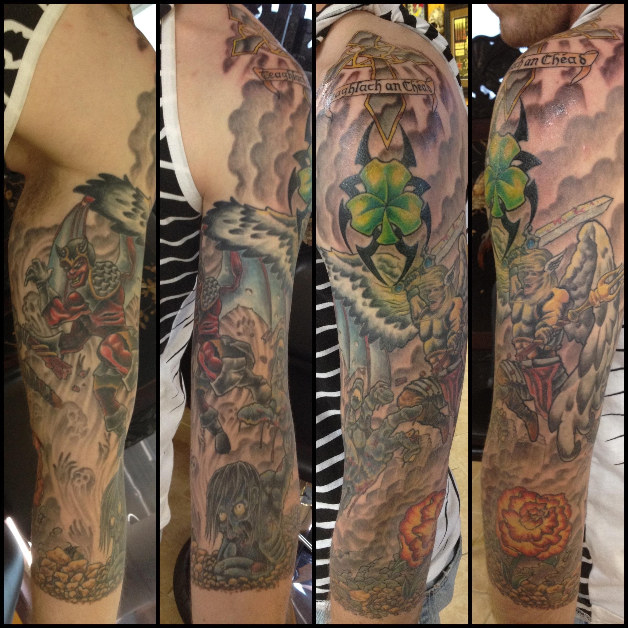 Heaven vs Hell Tattoo Sleeve