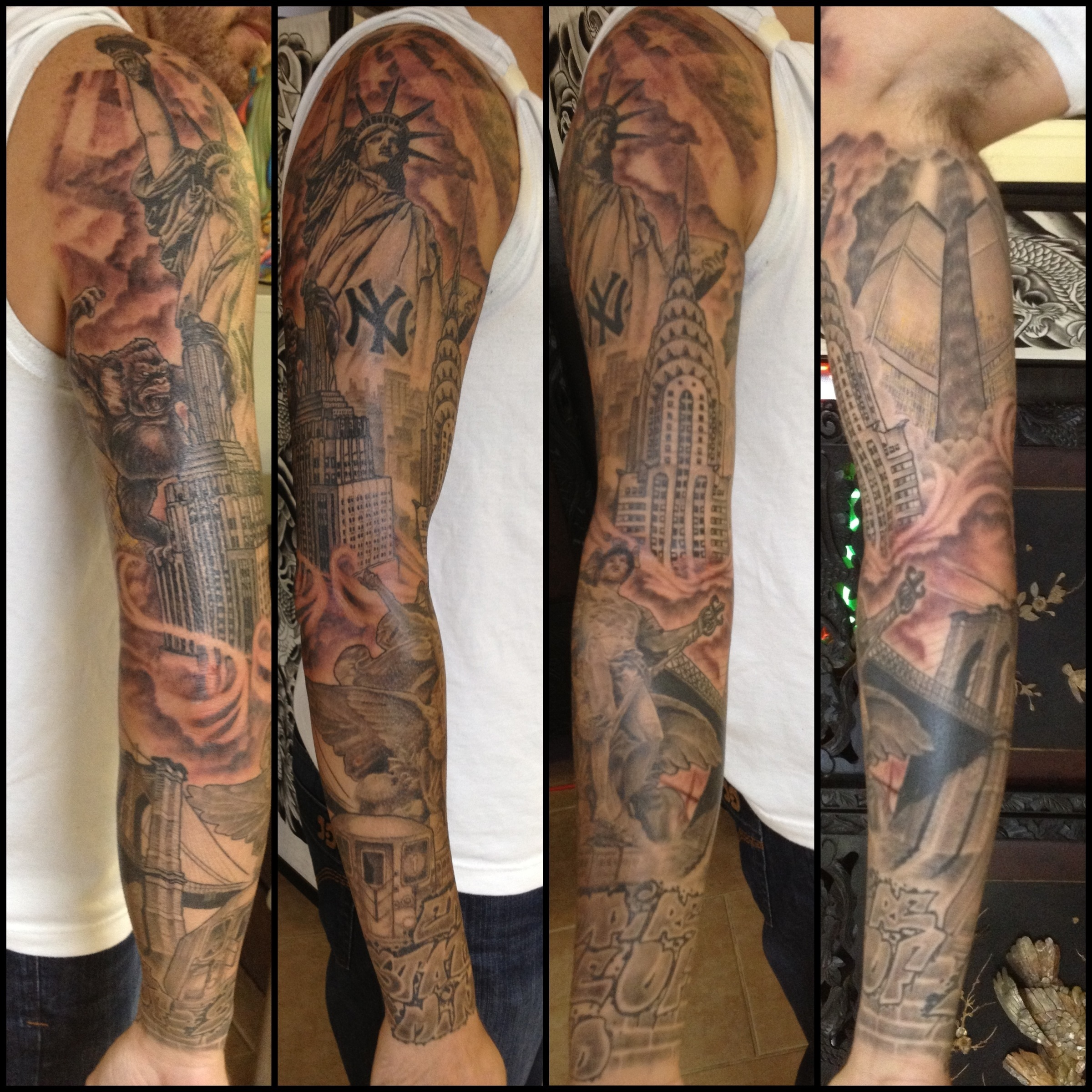 Heaven Vs Hell Tattoo Sleeve Mungfali