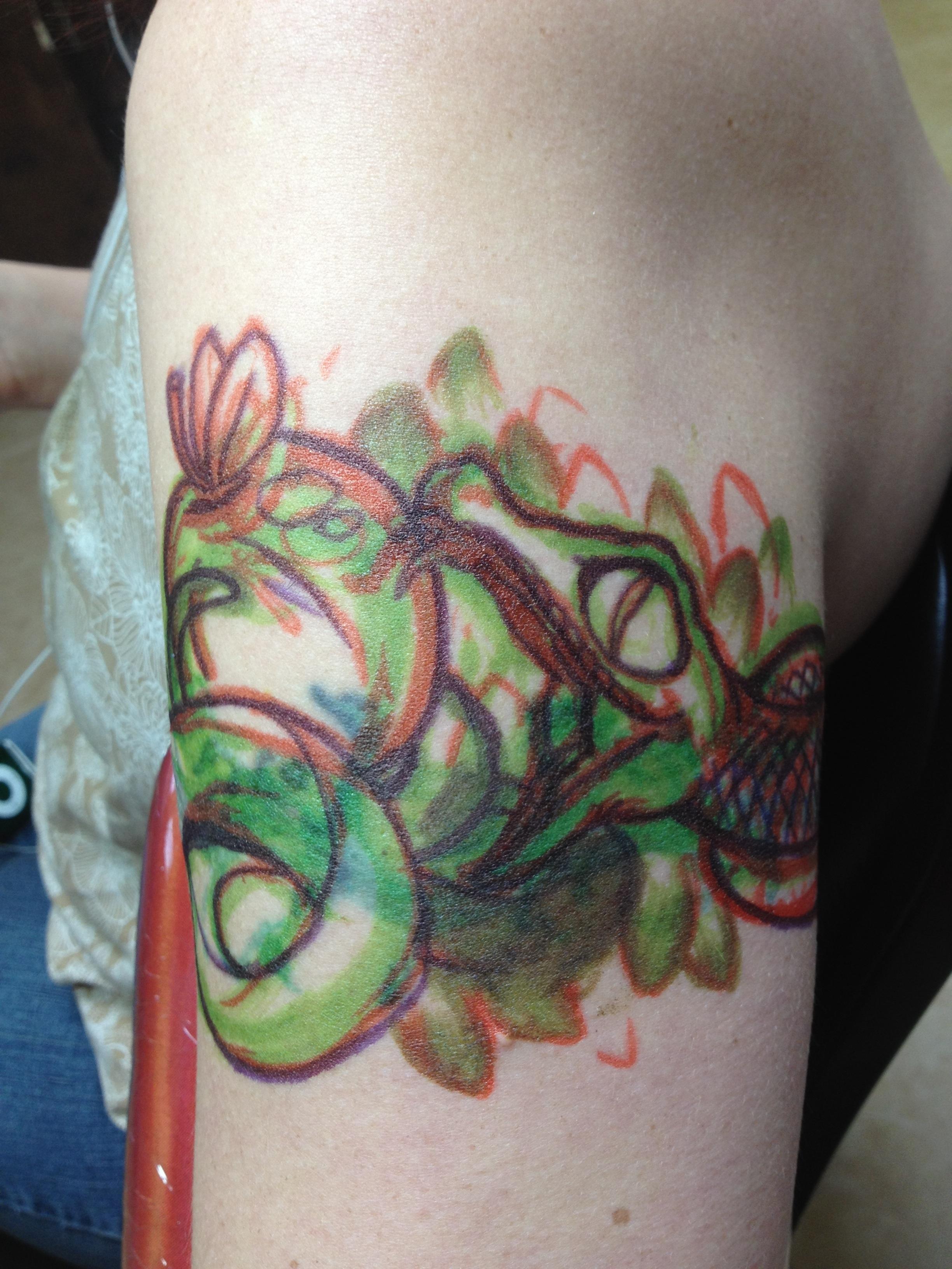 Garden of eden referred tattoo chagotattoos for Garden of eden tattoo