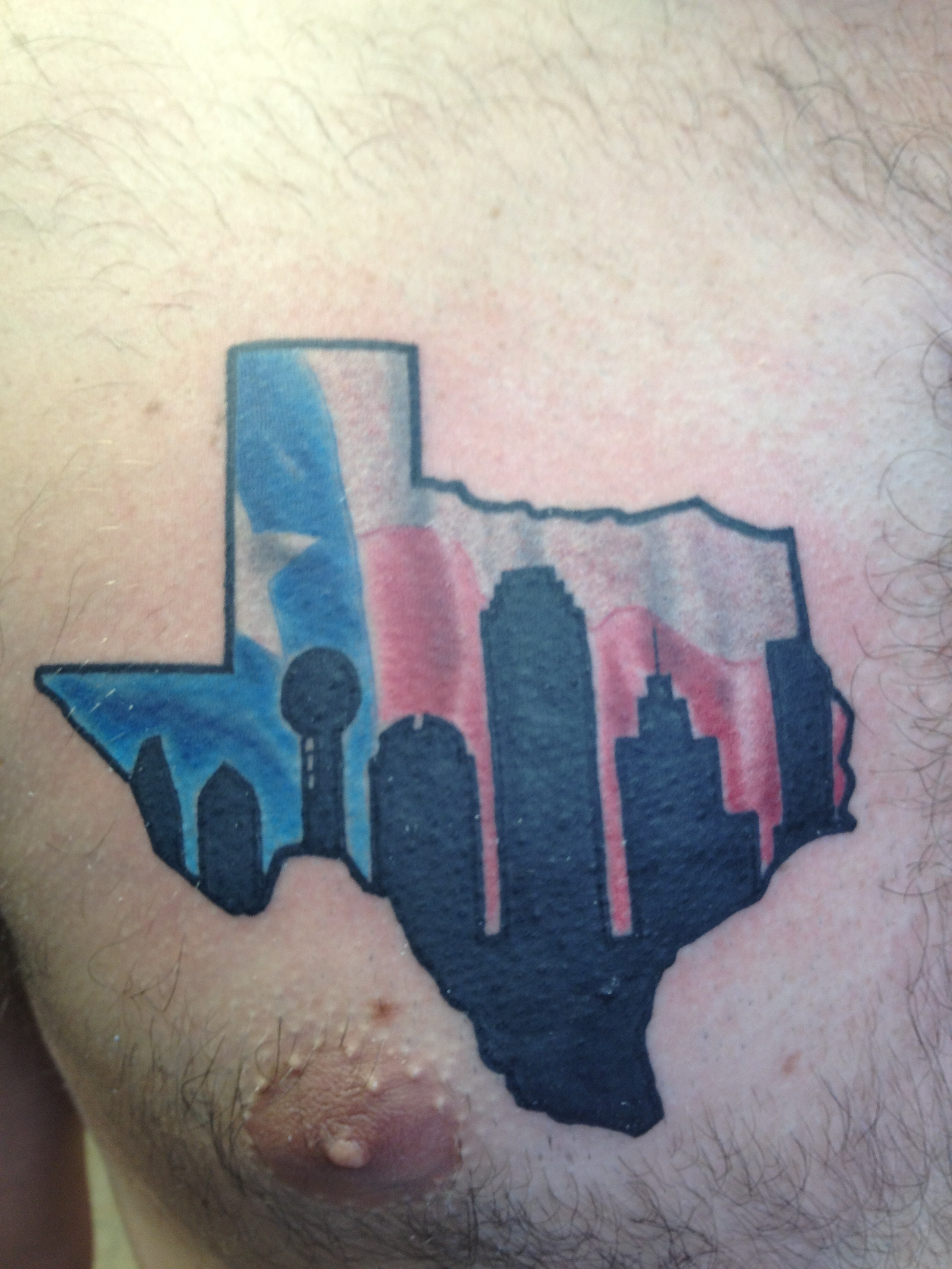 texas tattoo dallas skyline on a hobo chagotattoos. Black Bedroom Furniture Sets. Home Design Ideas