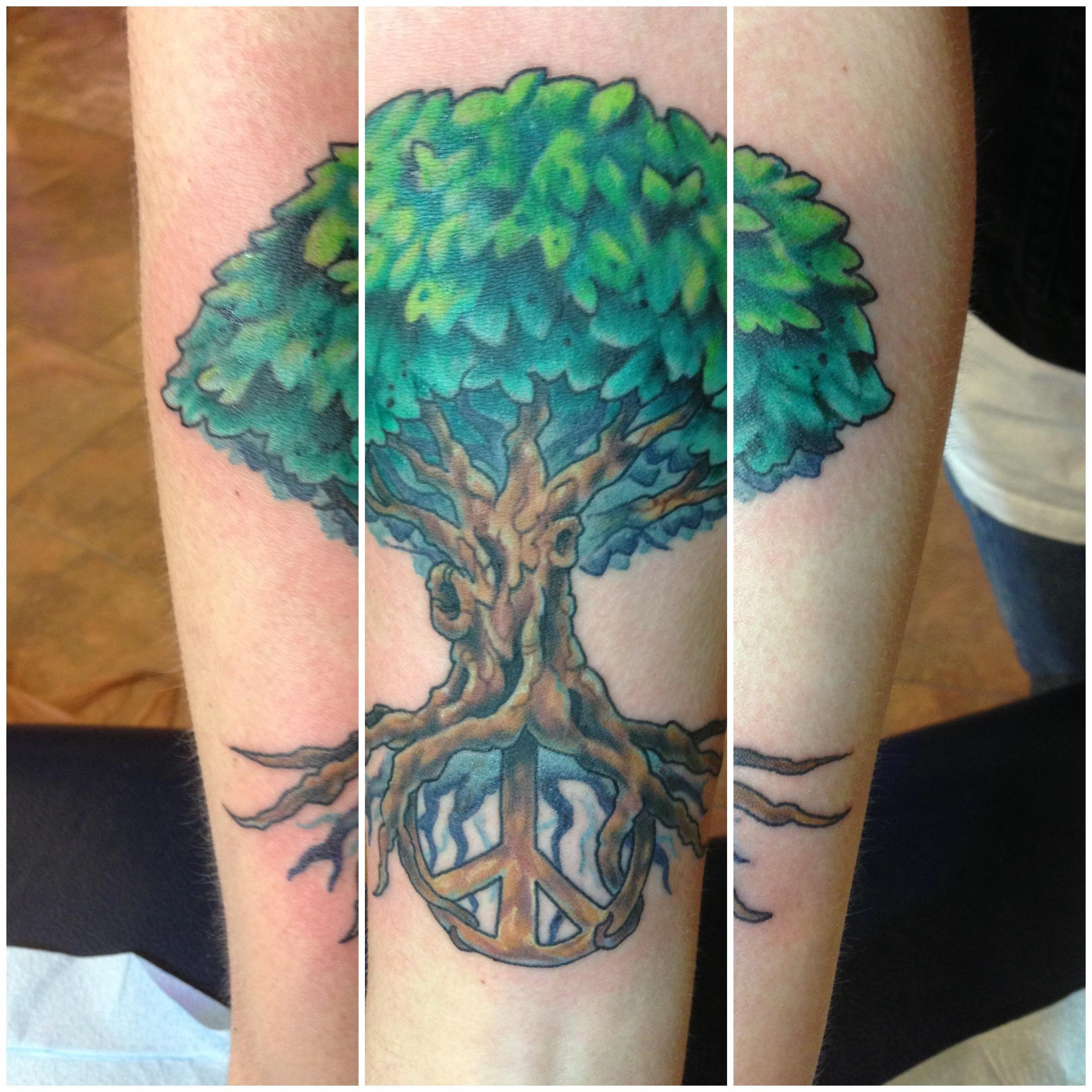 Peace Tree Tattoos Tree Peace