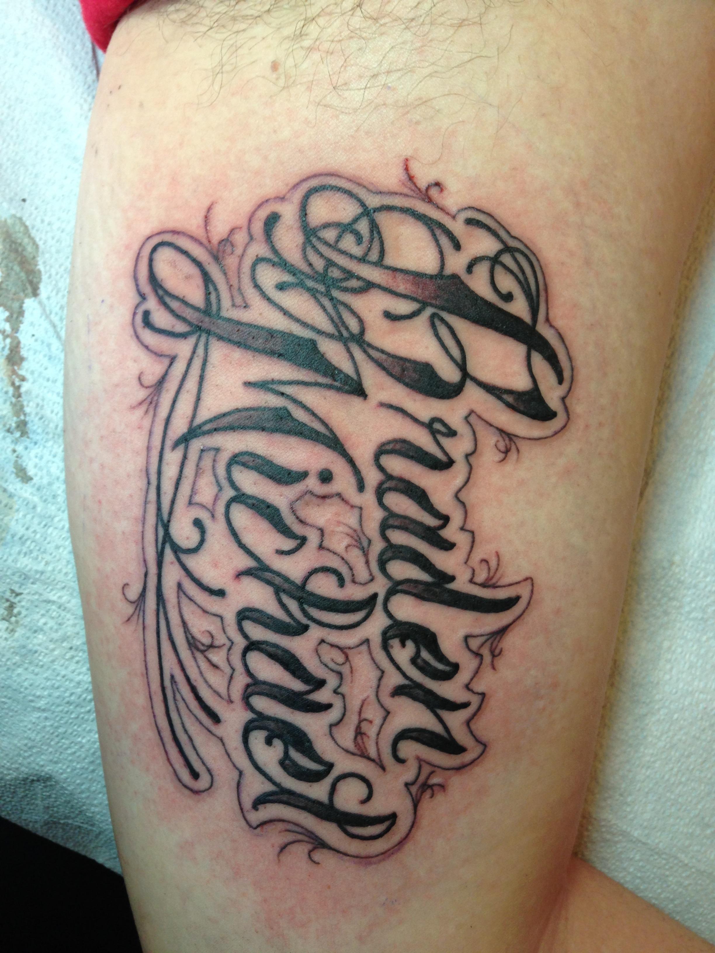Godspeed chagotattoos for Fancy name tattoos