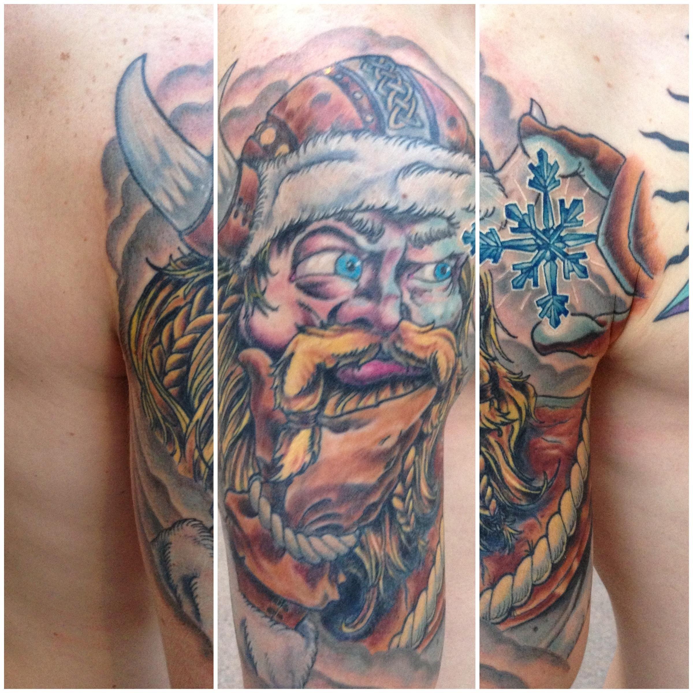 Norse half sleeve tattoos outline of ullr halfsleevein